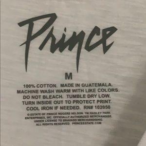 Prince Tops - 80s Prince Purple Rain white t-shirt medium